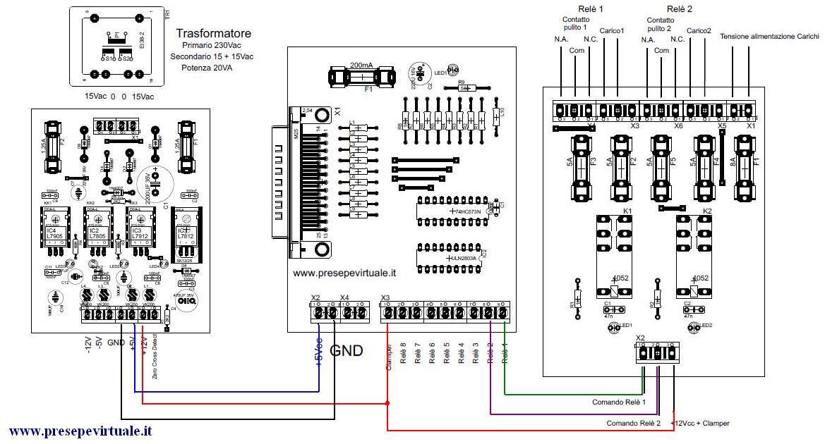 Schema Cablaggio Relè : Interfaccia lptx relè presepevirtuale