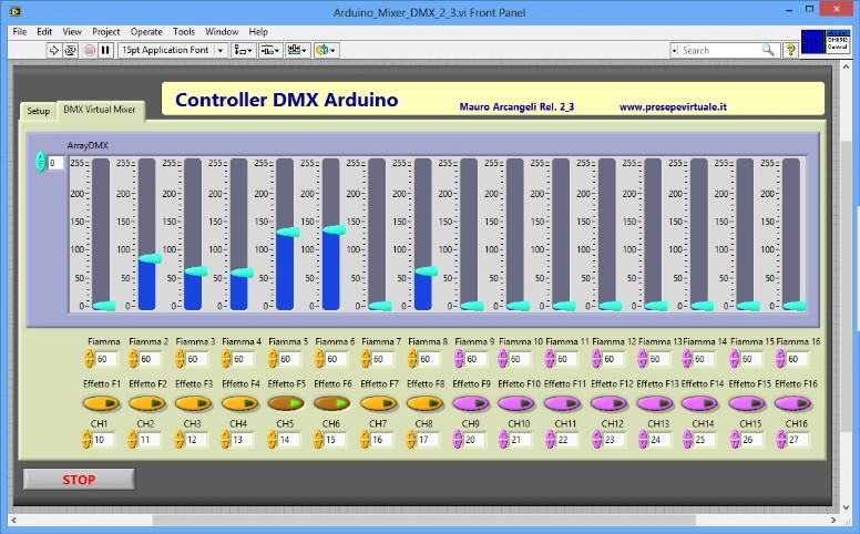 Progetti controller dmx presepevirtuale